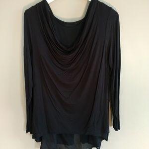 Design 365 Black Scoop Neck Shirt